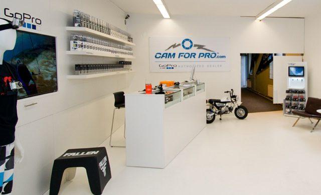 Der camforpro Pickup-Store ist das Ladengeschäft für GoPro u. Co.