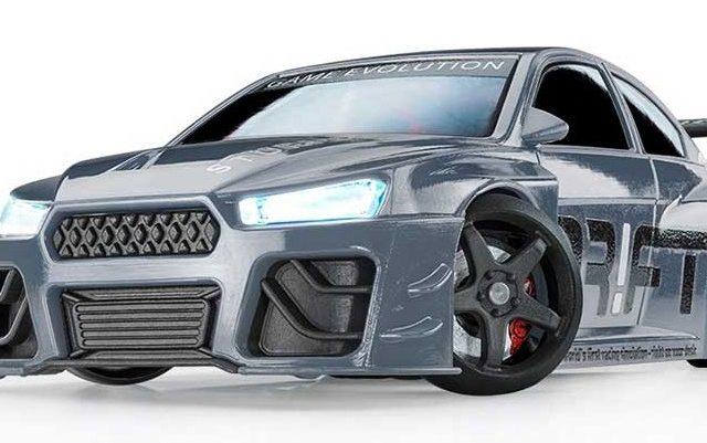 Der Sturmkind Drift Racer in Silber