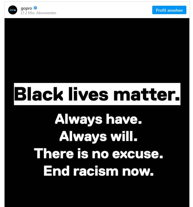 GoPro honors Black lives matter