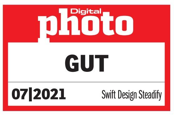 """Gütesiegel """"Gut"""" von DigitalPHOTO für Steadify Körper-Stativ"""