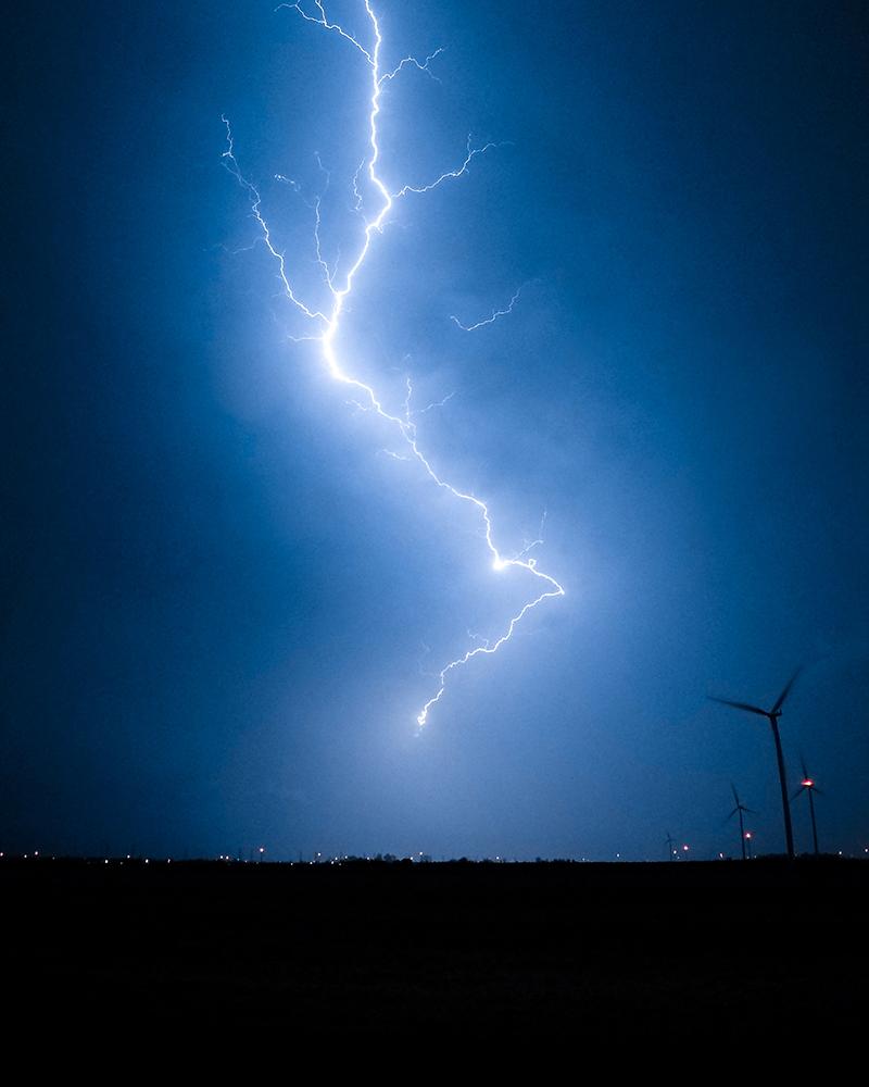 Blitz in der Nacht mit GoPro