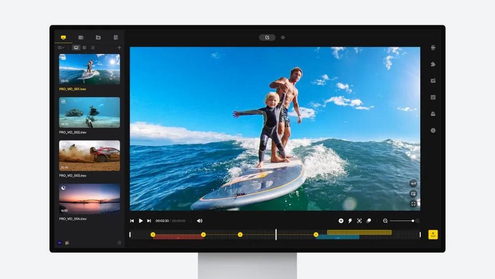 Neue Thumbnail Vorschau für Insta360 Studio