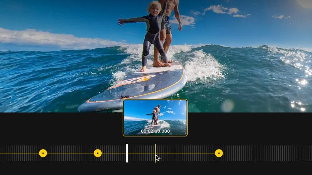 Video-Timeline in Insta360 Studio