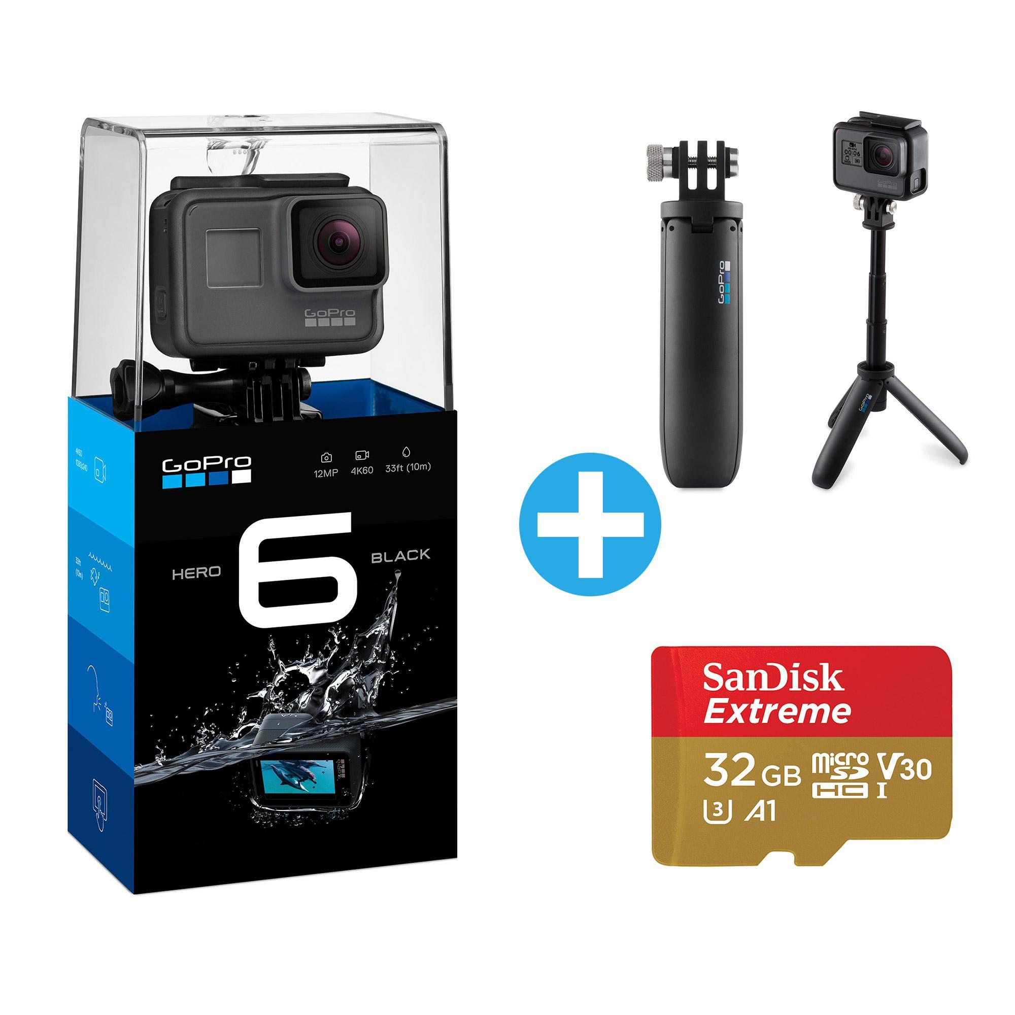 GoPro HERO6 Black incl Shorty & 32GB Speicherkarte