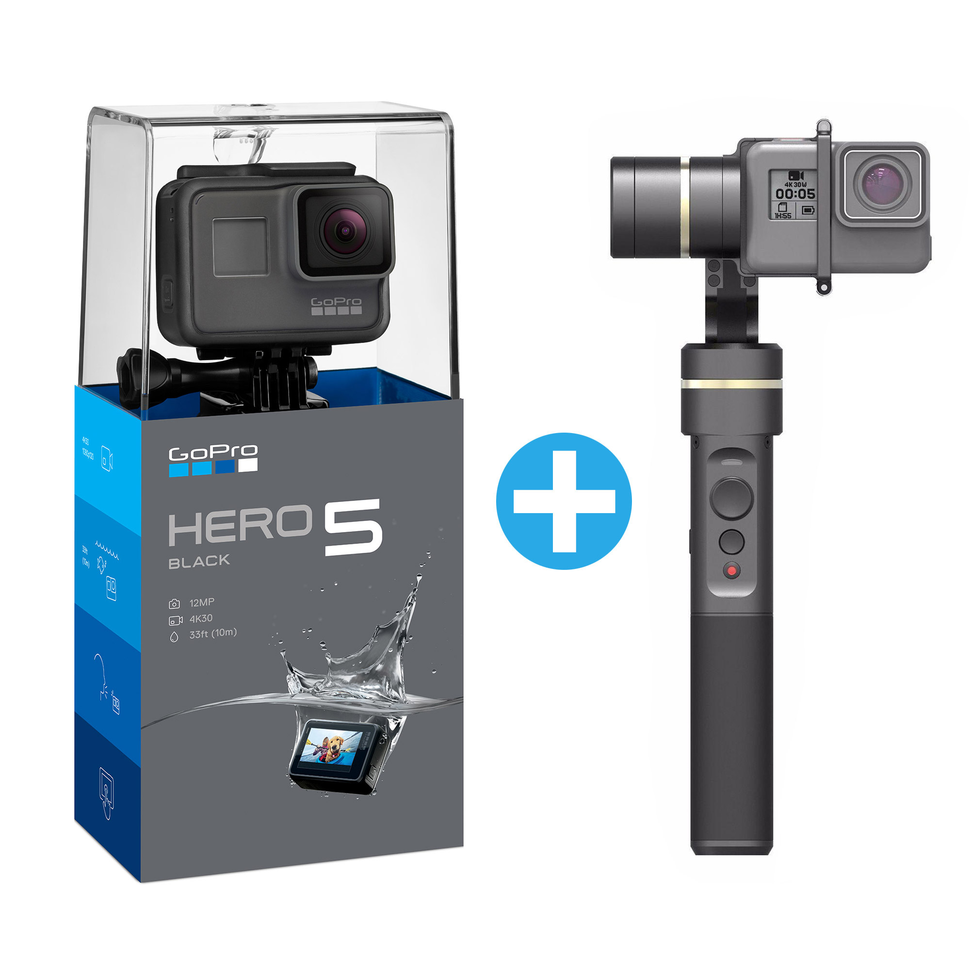 GoPro HERO5 Black Feiyu Tech G5 Gimbal Bundle GoPro BRANDS